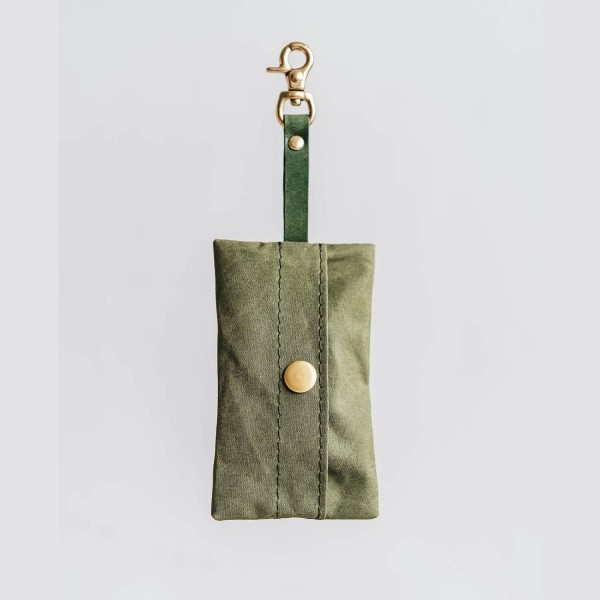Yellow canvas poop bag holder NOI