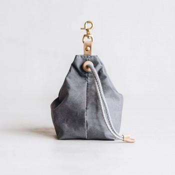 Grey canvas treat bag YORK