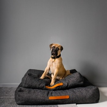 Cloud7 dog cushion HOMEY Mélange Anthracite