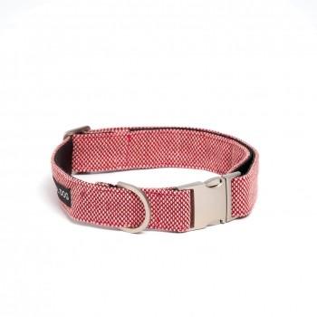 Kvadrat fabric dog collar SCOOT SCARLET