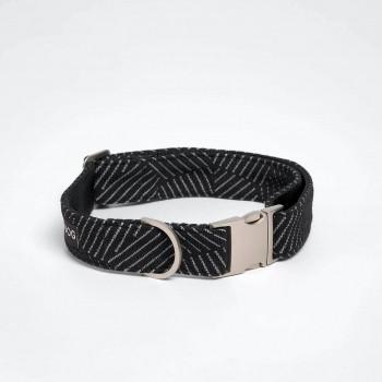 Kvadrat fabric dog collar YOSHI NOIR