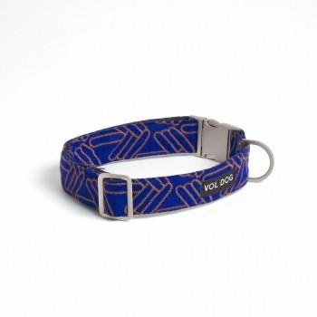 Kvadrat fabric dog collar LOLA KLEIN - XS 18cm – 26cm | 1.5cm wide