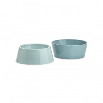MiaCara Doppio food & water bowl set BERRY