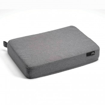 Grey memory foam dog bed RECTANGLE